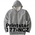 プリントスター スエットジップパーカー 177-NCZ