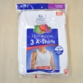 Fruit Of The Loom 3p A shirt 2501 タンクトップ ホワイト 3枚セット