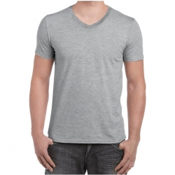 4.5oz ソフトスタイル Vネック Tシャツ GILDAN 64V00