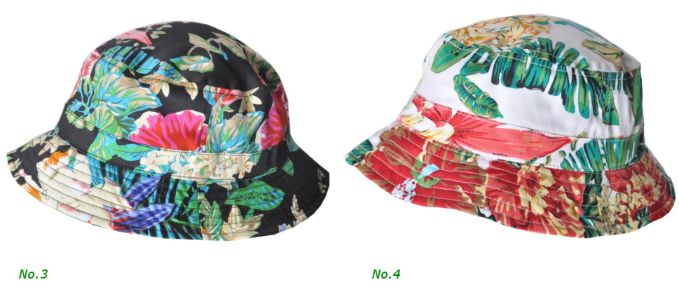 NEW FASHIONS OF NEW YORK フローラルプリント バケットハット NFPT1506