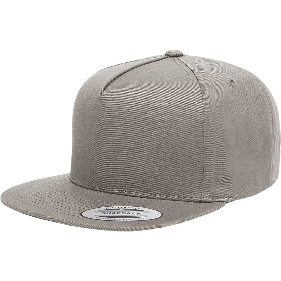 5 Panel Cotton Twill Snapback