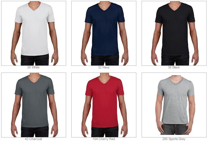 4V00 Gildan Softstyle® Adult V-Neck T-Shirt